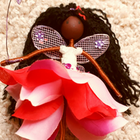 Black Fairy Doll Ornament