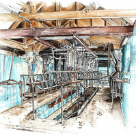 Disused Dairy -  Limited Edition Giclee print