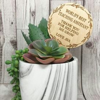 Personalised Teacher Plant Topper