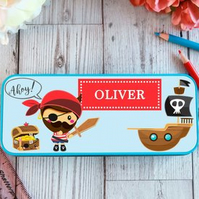 Pirate Personalised Pencil Case