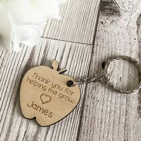 Teacher- Thank you For Helipng Me Grow Personalised Keyring