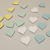 Leather Hearts Embellishments for Weddings and Crafts