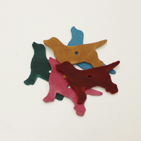 Leather Dog Shaped Embellishments for Crafts
