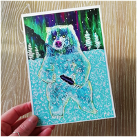 The ghost bear - folk tale inspired art print