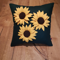 Sunflower cushion cover by Isolyn