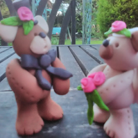 Wedding cake topper teddy bears