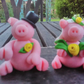 Wedding cake toppers pigs
