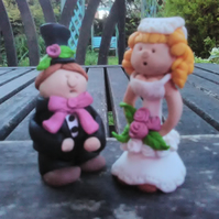 Wedding topper bride and groom