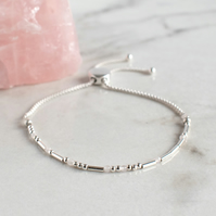 "Morse Code ""Survivor"" Bracelet - Fully Adjustable"