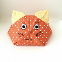 iPad Beanbag, Book Holder.  Tilly Cat - orange