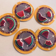 5 handmade fruit embellishments for scrapbooking card making craft die cuts