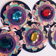 5 jewel-adorned handmade embellishments for scrapbooking cardmaking paper craft