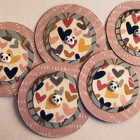 5 handmade panda embellishments for scrapbooking cardmaking paper craft