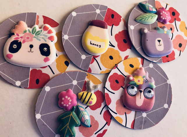 5 cute woodland handmade embellishments for scrapbooking cardmaking paper craft