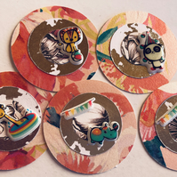 5 fun handmade circus embellishments for scrapbook card craft die cuts