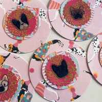 5 handmade dog embellishments for scrapbook card craft
