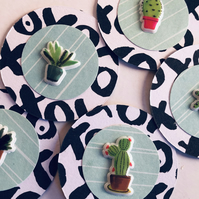 5 cute handmade cacti embellishments for scrapbooking cardmaking paper craft