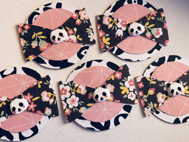 5 cute handmade panda embellishments for scrapbooking cardmaking paper craft