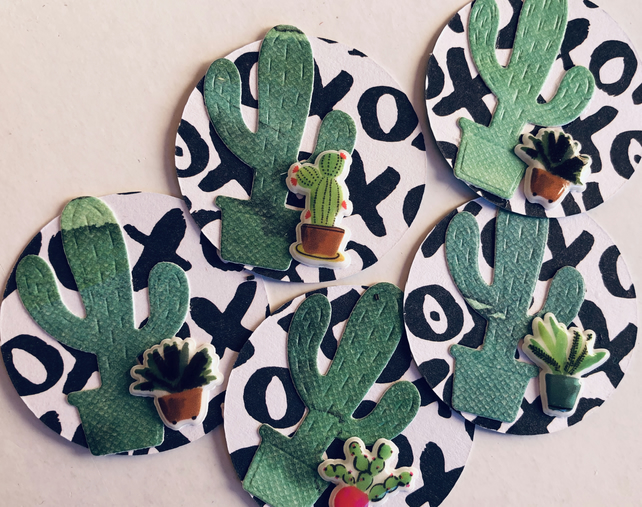 5 handmade cacti embellishments for scrapbooking cardmaking papercraft