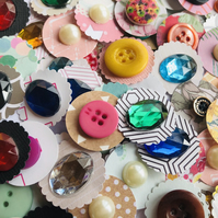 10 handmade dot embellishments for scrapbooking die cuts