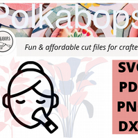 Make up beauty spa cut file .SVG .PNG .PDF .DXF Cricut Silhoutte