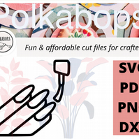 Manicure nail polish beauty spa cut file .SVG .PNG .PDF .DXF Cricut Silhoutte