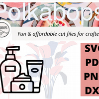 Cream lotion beauty spa cut file .SVG .PNG .PDF .DXF Cricut Silhoutte