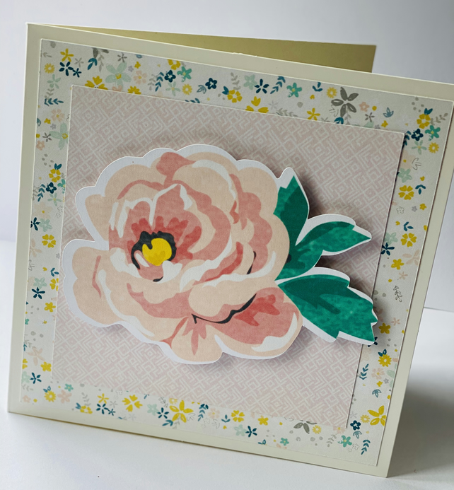 Blank flower card - FREE Personalisation Available