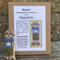 Embroidery Kits for Children: Baxter - a little doll