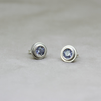 Light Purple Zircon Stud Earrings