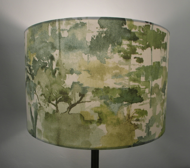Alfresco Green Watercolour Pattern Lampshade