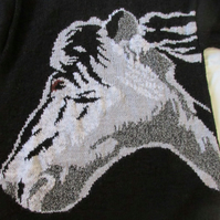 Hand Knitted Shadow Horse Jumper