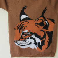 Hand Knitted Lynx Jumper