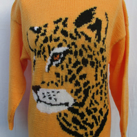 Hand Knitted Jaguar Jumper