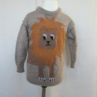 Hand Knitted Lion Jumper