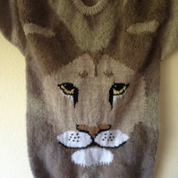 Hand Knitted Mohair Lion Jumper