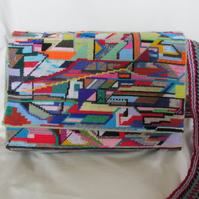 Hand Made  Abstract Tapestry Handbag or Satchel
