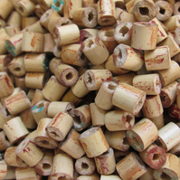 90 grams Wooden Bamboo Tubel Beads