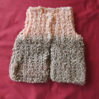 Hand Knitted Peachy Gilet Sleeveless Body-Warmer