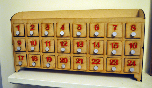 Handmade 3D Advent Calendar Fill Your Own Laser Cut