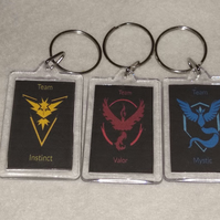 Pokemon Go Team Keyrings