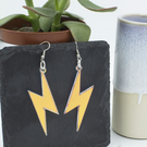 Lightning Bolt Iridescent  Earrings