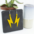 Lightning Bolt Yellow Earrings