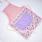Purple and Pink Flowery Apron for Children age 3 to 5 years old