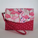 Pink Flamingo Mini Necessary Clutch Wallet