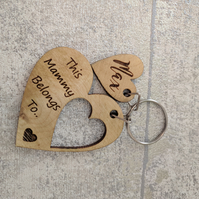Wooden Mothers Day Keyring