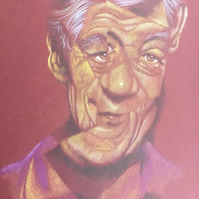 A portrait Of Sir Ian McKellen