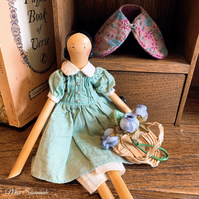 Traditional Wooden Doll by Miss Susannah