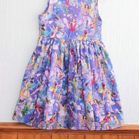 Flower fairy girls dress - birthday dress
