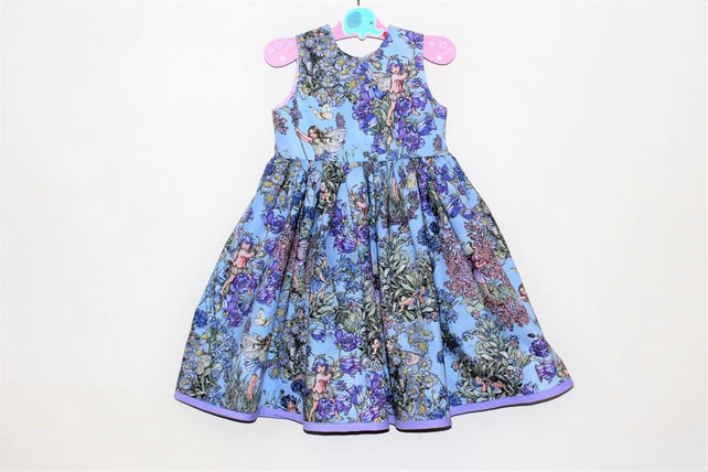 Flower fairy toddler dress - first birthday dress